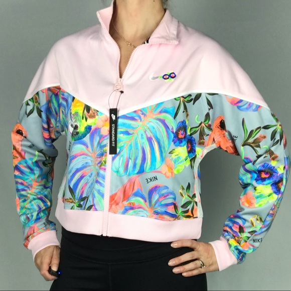 énorme réduction 51058 91d5e NEW Nike Hyper Femme Cropped Floral Jacket NWT
